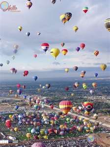 Albuquerque New Mexico _ annual Hot Air Balloon Fest.  - If you came for nothing else - this is so worth it!
