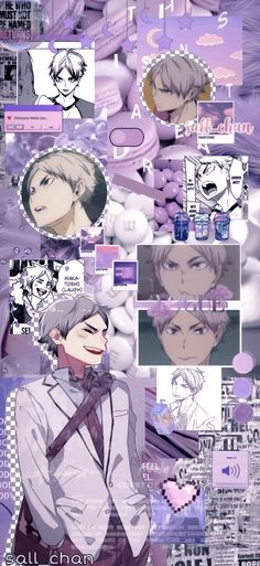 Purple Wallpaper, Blue Wallpapers, Animes Wallpapers, Haikyuu Wallpaper, Cute Anime Wallpaper, Purple Aesthetic, Aesthetic Anime, Character Wallpaper, Cute Backgrounds