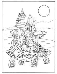 Fortuna Coloring Book Discovered City coloring page