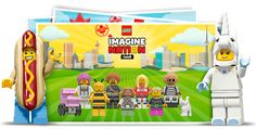 Create a postcard with Minifigure versions of your family. LEGO.com MinifigureFamily LEGO Minifigure Family