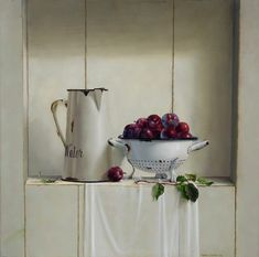 by Marian van der Sanden (artist) Stencil, Still Life Flowers, Realistic Paintings, Love Natural, Dutch Painters, Painting Still Life, Different Styles, Decoupage, Old Things