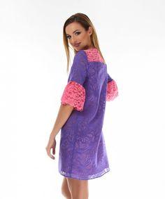 bluza rochie Ethical Fashion Brands, Cold Shoulder Dress, Floral, Casual, Dresses, Vestidos, Flowers, Dress, Flower