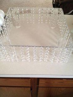 My bling cake stand :  wedding bling cake cake stand diy reception white Cake2