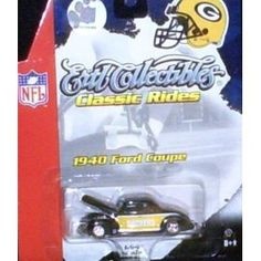 Green Bay Packers NFL Diecast '40 Ford Coupe Ertl Car Collectibles Classic Rides 1:64 Scale by ERTL  $17.29