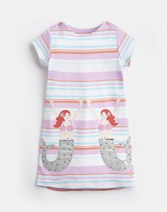 Clothing for Younger Girls 1 to 6 Years Joules Girls, Joules Uk, Dresser, Rain Collection, Girls Wardrobe, Applique Dress, Pink Stripes, Outfit Sets, 6 Years