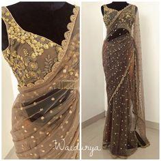 Bollywood Look Saree Party Wear Designer Blouse With Net Sari Indian Sari Blouse, Saree Dress, Saree Blouse Designs, Lace Saree, Dress Skirt, Lehenga Choli, Net Saree, Sabyasachi Sarees, Lehenga Suit