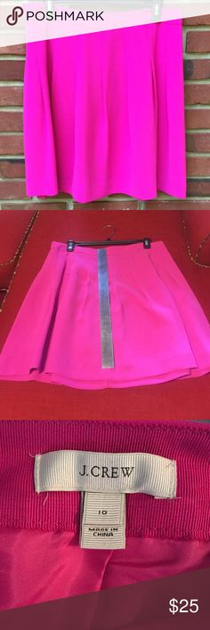 """J. Crew pink skirt This J. Crew skirt is lined, 20"""" length, and is 100% polyester. Worn once, great condition. J. Crew Skirts A-Line or Full"""