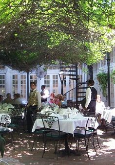 Court of Two Sisters Restaurant courtyard, NOLA ~ LOVE this place when we get to Na'olans!!
