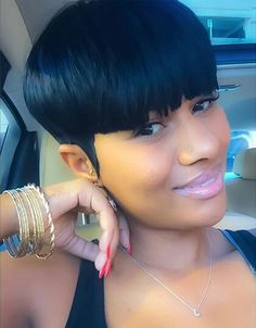 Cute short hairstyles wigs for black women lace front wigs human hair wigs african american wigs Short Quick Weave Hairstyles, 27 Piece Hairstyles, Cute Hairstyles For Short Hair, Wig Hairstyles, Curly Hair Styles, Natural Hair Styles, Hairstyles Videos, Haircuts, Beautiful Hairstyles