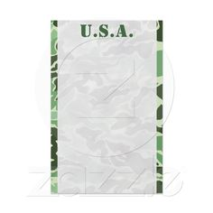 Patriotic Army Custom Green Camouflage Stationery from Zazzle.com  Use this for well wishes from guests.