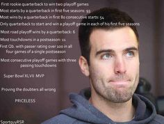 Joe Flacco....some still don't want to do anything but blame him when things go wrong