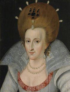 John De Critz the Elder — Anne of Denmark, Queen Consort of James I, 1605 : St John's College, University of Cambridge. Anne Of Denmark, Denmark House, House Of Stuart, St Johns College, Historical Clothing, Female Clothing, Women's Clothing, Art Uk, Queen Anne