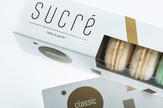 SUCRÉ Macarons on Packaging of the World - Creative Package Design Gallery Macaron Packaging, Dessert Packaging, Bakery Packaging, Candle Packaging, Baby Girl Cookies, Biscuits Packaging, Cake Logo, Baby Girl Shower Themes, Branding