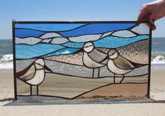 Three's Company – January 3 — SwellColors Glass Studio & Gallery Stained Glass Patterns Free, Stained Glass Birds, Faux Stained Glass, Stained Glass Designs, Stained Glass Panels, Sea Glass Art, Stained Glass Projects, Mosaic Glass, Mosaic Mirrors