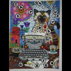 Inspirational Coloring Pages by @sato_mandy  #gatos #cats #siames #inspiração…