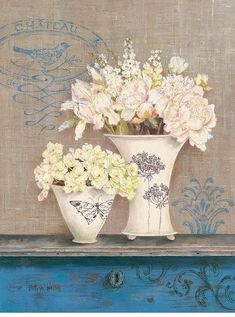 Laminas decoupage: K.WHITE. FLOWERS