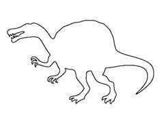 Spinosaurus pattern. Use the printable outline for crafts, creating stencils, scrapbooking, and more. Free PDF template to download and print at http://patternuniverse.com/download/spinosaurus-pattern/