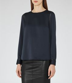 REISS - CECILE LONG-SLEEVED BLOUSE