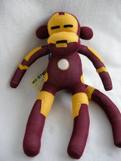 Iron Man - Superhero Sock Monkey. $50.00, via Etsy.