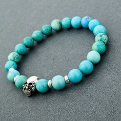 Adorable Skull Bead Bracelets Material: Stone Length: 19cm(stretch) ClickADD TO CARTTo Order Yours Now! 100% Satisfaction Guaranteed With Every Order.
