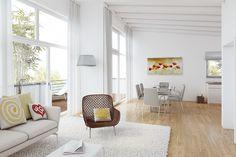 3D-Innenraumvisualisierung Wohnungsbau DG