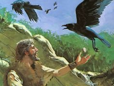 "Elijah -  ""The ravens brought him bread and meat in the morning and bread and meat in the evening, and he drank from the brook."" ~ 1 Kings 17:6"