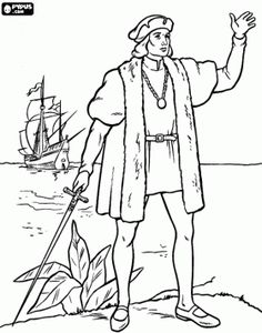 christopher columbus coloring page history pinterest