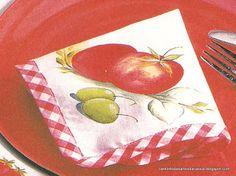 Cantinho das Artes da Cássia: Risco de tomate com azeitona