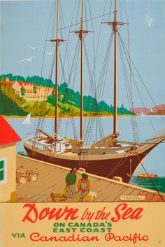 Canadian Pacific Digby Nova Scotia, 1946 - original vintage poster listed on AntikBar.co.uk #TravelTuesday