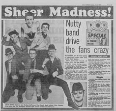 MadnessDaily Mirror 1980 Ska Music, One Hit Wonder, Rude Boy, Skinhead, My Youth, Pop Group, Outlander, Cheer, Mad