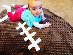 Football Blanket Tutorial. This blanket turned out way bigger than I thought it would..it will last him for years! It was super easy & is adorable!