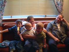 Grammy, Grandpa Johnny, Aaron, Gregory and Eric