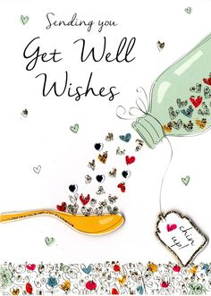Get Well Wishes Greeting Card | Cards | Love Kates