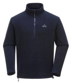Portwest Finn Microfleece - Navy MP52 The Finn microfleece works to keep you both comfortable and stylish. With a half zip and made from 260g anti-pill fleece, this top is great to pull over a t-shirt. #portwest #westport #ireland #outdoor #mensfleece #microfleece #hiking #walking