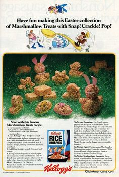 Rice Krispies treats for Easter (1982)