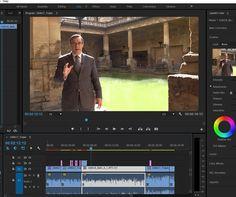 Editing the Roman bath sequence. Isn't this shot glorious? #moviemakingmagic #lovemyjob