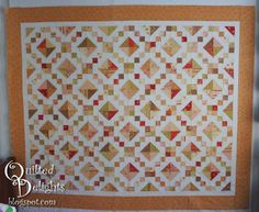 Quilted Delights: Jewel Box Borders and Basting - quilt with Fig Tree Fabrics