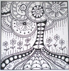 Tree of Life Zentangle - combine with Klimt and paint negative space - beginning of year warm up 5th grade