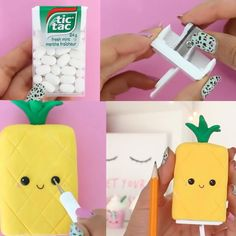 Trendy Diy School Supplies Kawaii Ideas - Diy And Crafts Diy Crafts For School, Diy Back To School, Crafts For Girls, Diy For Kids, Jar Crafts, Cute Crafts, Crafts To Do, Kawaii Crafts, Kawaii Diy
