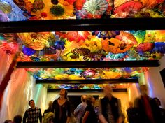 persian ceiling! - glass sculptor dale chihulys new exhibition center beneath seattles space needle has generated exceptional color images over the last 10 days. the 45,000-square-foot garden and glass museum is a permanent home for the work of the controversial american artist.