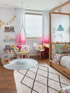 Kids Bedroom Designs, Baby Room Design, Bed Design, Cute Room Decor, Nursery Wall Decor, Home Decoracion, Big Girl Rooms, Cool Rooms, Kids Room