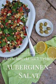 Rezept für Auberginen Salat, Sommersalat