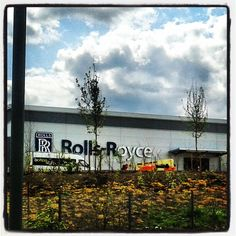 Rolls Royce sign going up at the new Advanced Blade Casting Facility in Advanced Manufacturing Park, Rotherham, part of Sheffield City Region Enterprise Zone. Construction has begun and the first components will be delivered in 2014.