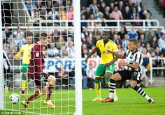 Dwight Gayle (right) took the lead for Newcastle after 24 minutes at St James' Park