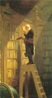 """by Carl Spitzweg, 1850 - """"The Book Worm"""" - my all-time favorite book picture"""