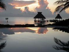 worth waking up for: sunrise at Zoetry Paraiso de la Bonita, Riviera Maya, Mexico.  Absolutely a #SimplePleasure.