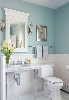 Top 10 Blue Bathroom Design Ideas #bathroom #bathroomdesign #blue #bluedesign #bluebathroom