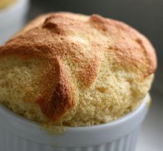 two-ingredient maple soufflé