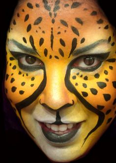 facepaint, face paint, cheetah face by ~ARTSIE-FARTSIE-PAINT on deviantART