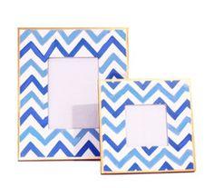 Bargello Stripe Frame - Blue by Dana Gibson